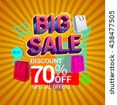 big sale discount 70  off...   Shutterstock .eps vector #438477505