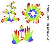 set of gender symbols with... | Shutterstock .eps vector #438478039