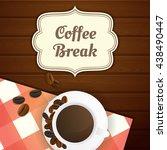 coffee break illustration with... | Shutterstock .eps vector #438490447