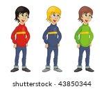 boy cartoon vector illustration | Shutterstock .eps vector #43850344