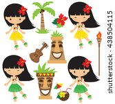 hawaii vector illustration | Shutterstock .eps vector #438504115