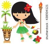 hawaii vector illustration | Shutterstock .eps vector #438504121