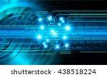 digital data background blue... | Shutterstock . vector #438518224