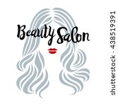 beauty salon sign. beautiful... | Shutterstock .eps vector #438519391