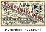 old advertising design | Shutterstock .eps vector #438524944