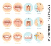 top twelve issues for oral care.... | Shutterstock .eps vector #438541021