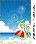 summer beach image   Shutterstock .eps vector #438550357