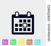 calendar icon   Shutterstock .eps vector #438554821