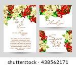 vintage delicate invitation... | Shutterstock .eps vector #438562171