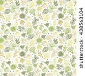 hand drawn doodle green... | Shutterstock .eps vector #438563104
