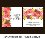 invitation with floral... | Shutterstock .eps vector #438565825