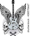 skull and electric guitar   Shutterstock .eps vector #438570667