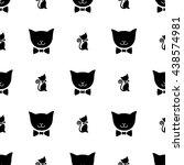 cute seamless vector pattern... | Shutterstock .eps vector #438574981
