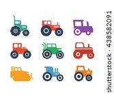 farm farming agriculture logo... | Shutterstock .eps vector #438582091
