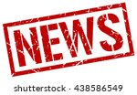 news stamp.stamp.sign.news. | Shutterstock .eps vector #438586549