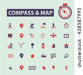 compass map icons | Shutterstock .eps vector #438587995