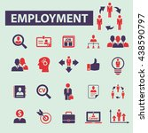 employment icons | Shutterstock .eps vector #438590797