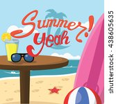 summer baground illustration | Shutterstock . vector #438605635