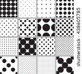 abstract monochrome geometric... | Shutterstock .eps vector #438605785