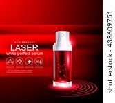 laser serum collagen and... | Shutterstock .eps vector #438609751