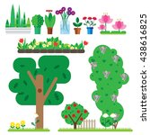 set of flat plant. it includes... | Shutterstock .eps vector #438616825