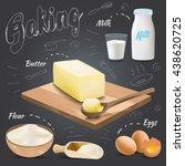 set of vector baking...   Shutterstock .eps vector #438620725