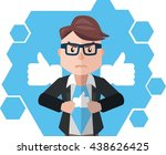 business man social media hero | Shutterstock . vector #438626425