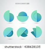 vector abstract logo design... | Shutterstock .eps vector #438628135