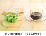 salad and coffee | Shutterstock . vector #438629959