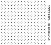 vector seamless dot pattern.... | Shutterstock .eps vector #438632227