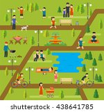 public park  camping in the... | Shutterstock .eps vector #438641785