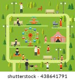 public park  camping in the... | Shutterstock .eps vector #438641791