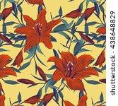 bright summer pattern . red... | Shutterstock .eps vector #438648829