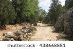 mountain scenery in summer.  | Shutterstock . vector #438668881