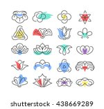 color shapes and line... | Shutterstock .eps vector #438669289