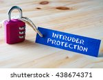 words intruder protection... | Shutterstock . vector #438674371