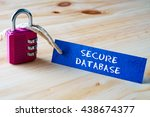 words secure database written... | Shutterstock . vector #438674377