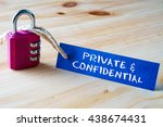 words private   confidential... | Shutterstock . vector #438674431