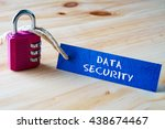 words data security written on... | Shutterstock . vector #438674467