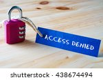 words access denied written on... | Shutterstock . vector #438674494