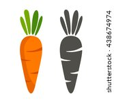 carrots vector | Shutterstock .eps vector #438674974