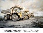 coal mining. the truck... | Shutterstock . vector #438678859