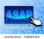 asap button meaning web site... | Shutterstock . vector #438689365