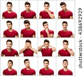 teenage multiple image.   Shutterstock . vector #438692929