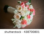 close up of bridal bouquet of...   Shutterstock . vector #438700801