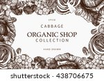 vector design with hand drawn... | Shutterstock .eps vector #438706675
