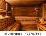 wooden sauna | Shutterstock . vector #438707569