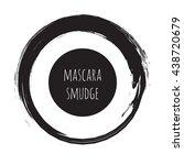 grudge brush stroke circle.... | Shutterstock .eps vector #438720679
