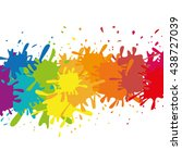 paint design. splash icon.... | Shutterstock .eps vector #438727039