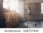 full length image of fit young... | Shutterstock . vector #438727969